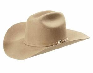 Stetson 4X Corral Silversand Buffalo Felt Cowboy Western Hat - Size 7 3/4
