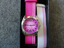 "New Avon ""Grapefruit"" Quartz Watch with a Two Colored Bands"