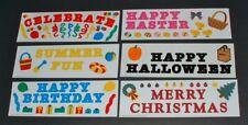 CREATIVE MEMORIES Sticker Lot BORDER TITLE BIRTHDAY HALLOWEEN CHRISTMAS EASTER