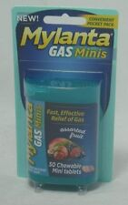Mylanta Gas Mini Chewable Tablets, Assorted Fruit 50 Count (6 Pack)