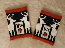 miller lite ugly sweater coozies NEW beer cover