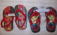 BOYS DISNEY FLIP FLOPS DISNEY JAKE / DISNEY CARS SIZES 5/6 OR 7/8 NEW WITH TAGS