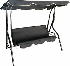 Garden Swinging Hammock 3 Seater Swing Bench Seat Cushions Lounger Outdoor Patio