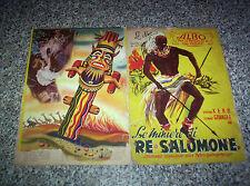 ALBUM LE MINIERE DI RE SALOMONE LAMPO 1951 CON 96 FIGURINE X RECUPERO NO PANINI