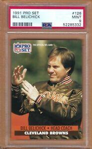1991 Pro Set Bill Belichick Rookie # 126 PSA 9 MINT