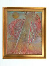"""Ölbild von A. Slezak 1987 """"Musik"""""""