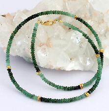 Natural Esmeralda Cadena de piedra preciosa tallado en facetas gradiente Verde