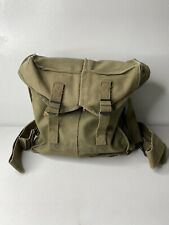 Vintage Korean War US Army M2A1 Green Ammo Bag 1951 Backpack With Straps