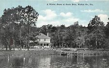 B5/ Santa Rosa Walton County Florida Fl Postcard c1915 Winter Home Lake Dock