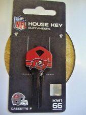 New~NFL Official Tampa Bay Buccaneers ~Kwikset KW1 66~House Key Blank