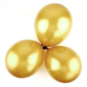 12 inch 100x Gold Pearl Latex Thick Party Balloons 3.2g Helium Floating USA