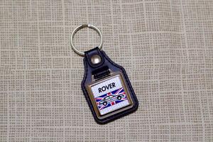 Rover 800 Mk1 Keyring - Leatherette & Chrome Keytag