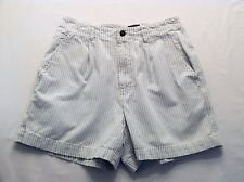 Dockers Blue & White Striped Denim Shorts, 10
