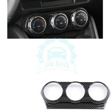 For Mazda CX-3 2018 Carbon Fiber Style Air Conditioning A/C Knob Cover Trim df