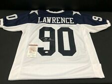 DEMARCUS LAWRENCE DALLAS COWBOYS SIGNED WHITE JERSEY JSA WITNESS WP554206