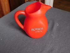 Jug advertising Berger anisette plastic red