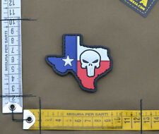 """PVC / Rubber Patch """"Punisher Texas Country Shape Flag"""" with VELCRO® brand hook"""