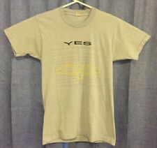 New listing Vintage Yes 1984 World Tour Concert Large L Screen Stars Best Grey T Shirt