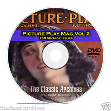 Picture Play Magazine, Vol 2, 165 Issues, Golden Age of Hollywood, DVD CD C18