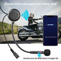 FODSPORTS Bluetooth 5.0 Moto Casque Oreillette Mains Libre Écouteurs sans-fil FM