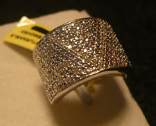 CLEARANCE^^  Diamond Wide Band Ring Size 8 66diamonds .50tcw  MSRP $1099