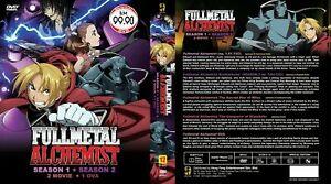 Fullmetal Alchemist (Season 1 & Season 2 + 2 Movie + OVA) ~ All Region ~ SEAL ~