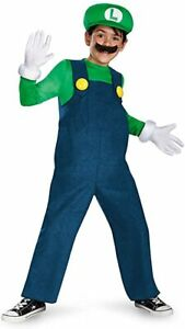 Disguise Boy's Nintendo's Super Mario Brothers Luigi Deluxe Costume, Small 4-6