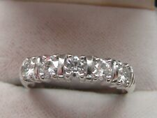 Q163 Ladies 9ct white gold 0.75 (3/4 ct) VS diamond half eternity ring size R