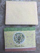 NIB Carol Wilson Rose Garden Lemon Tree Thank You Notes Set 8 W Envelopes