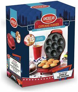 American Originals Cupcake Maker for 7 Cupcakes 1000W Metallic Red