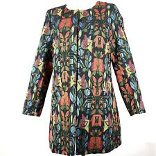 Papillon Medium Coat Brocade Embroidered Style Fabric Long Multicolor Womens