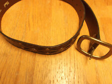 UNISEX FOSSIL BELT, SIZE M, BROWN WITH STUDS & WEAVING