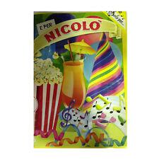 Tarjeta de cumpleaños musical genérico canta nome NICOLO' y FELIZ En TE
