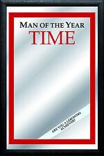 Man of the Year TIME Nostalgie Barspiegel Spiegel Bar Mirror 22 x 32 cm