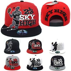 23 Sky High New Greatest Bull 23 Chicago Fly Adjustable Era Snapback Hat Cap