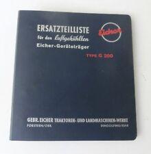 Eicher Geräteträger G 200 Ersatzteilliste Original