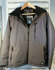 O'Neill Mens Large Cue Snowboard/Ski Asphalt Gray Insulated Jacket MSRP $230