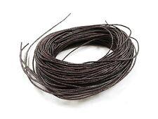 20m 1mm marrone scuro cotone cerato spago laccio corda, perline artigianato