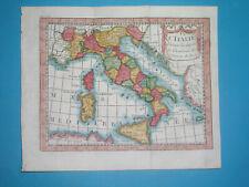 1744 NICE ANTIQUE MAP ITALY SICILY PIEDMONT LOMBARDY TUSCANY VENETO LAZIO ROME