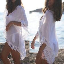 Women Lace Crochet Bikini Beachwear Cover Up Kaftan Beach Dress Summer Suit Top