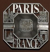 Vintage French Paris souvenir metal ashtray