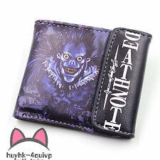 Anime Death Note Ryuuku Leather Wallet Cosplay Ryuuku Purse Two-Fold Purse GFDGR