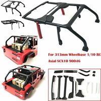 Jeep Wrangler Body Shell Roll Bar Modified Parts Pour 1/10 RC Axial SCX10 90046