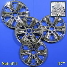 "Fits OEM wheels 15-16 Ford F-150 17"" WHEEL COVER SKIN CAP OVERLAY chrome WS-FD07"
