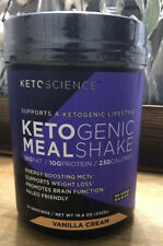Keto Science Ketogenic Mealshake NEW Vanilla Cream 19 Oz