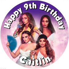 "Little Mix  7.5"" Round Personalised Edible Icing Cake Topper"