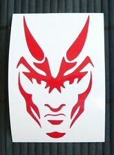 adesivo DIAVOLO devil wall sticker decal vynil vinile auto moto car helmet casco