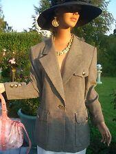 Lujo Escada Couture felicidad blazer cubo np1180, - golf club 38/40 statement oro