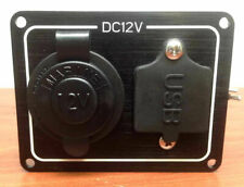 WEATHERPROOF MARINE CIGARETTE SOCKET PANEL WITH ONE USB DUAL POR