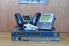 CISCO CCENT CCNA CCNP VOICE LAB 2801 CME 8.6 3550 POE Switch 2x 7940 IP PHONE